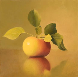 fine art paintings for sale: still life oil painting - apple by Leah Kristin Dahlgren
