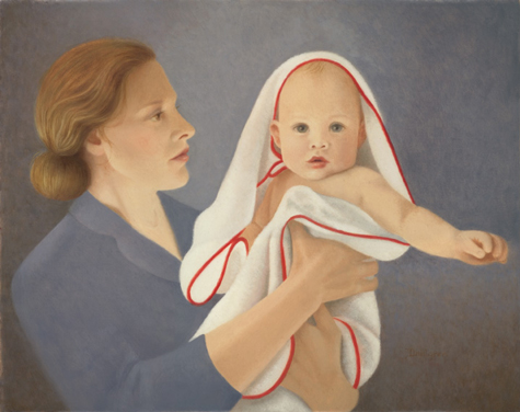 portrait - oil painting - first born by leah kristin dahlgren