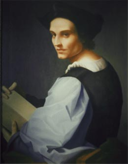 renaissance paintings - portrait of a young man after del sarto
