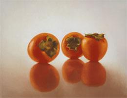 "fine art prints for sale: still life print \""Persimmons\"" by Leah Kristin Dahlgren"