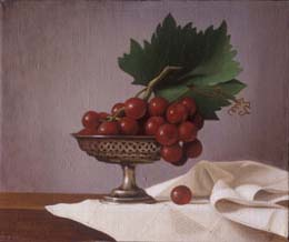 "still life oil painting ""grapes"" by leah kristin dahlgren"